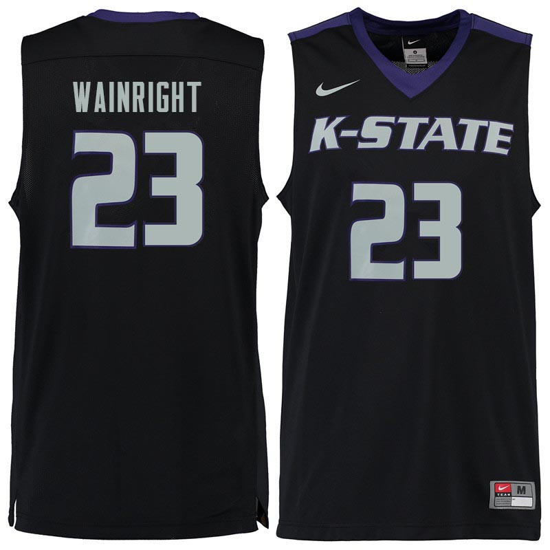 Men #23 Amaad Wainright Kansas State Wildcats College Basketball Jerseys Sale-Black