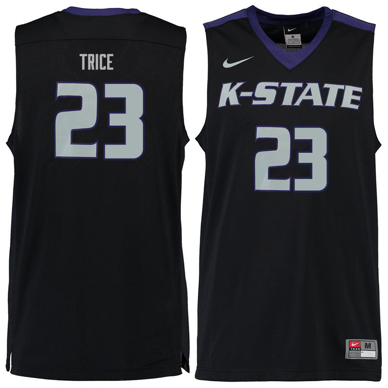 Men #23 Austin Trice Kansas State Wildcats College Basketball Jerseys Sale-Black