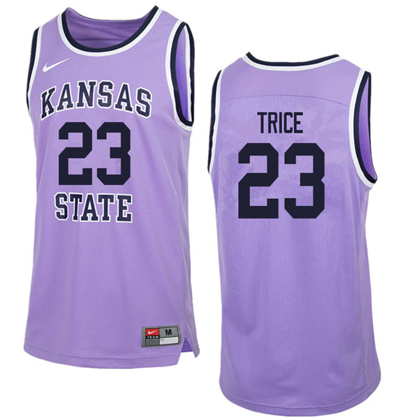 Men #23 Austin Trice Kansas State Wildcats College Retro Basketball Jerseys Sale-Purple