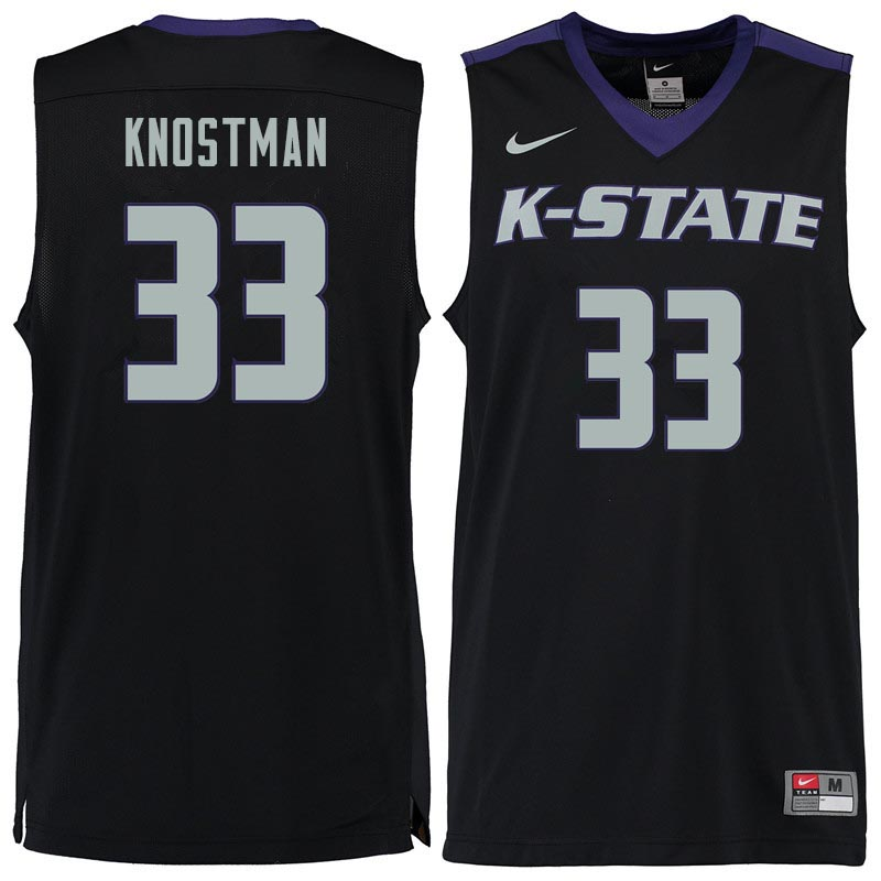 Men #33 Dick Knostman Kansas State Wildcats College Basketball Jerseys Sale-Black