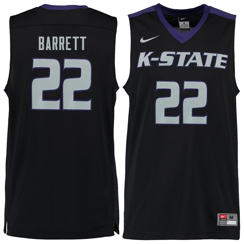 Men #22 Ernie Barrett Kansas State Wildcats College Basketball Jerseys Sale-Black