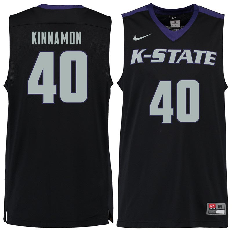 Men #40 Kade Kinnamon Kansas State Wildcats College Basketball Jerseys Sale-Black