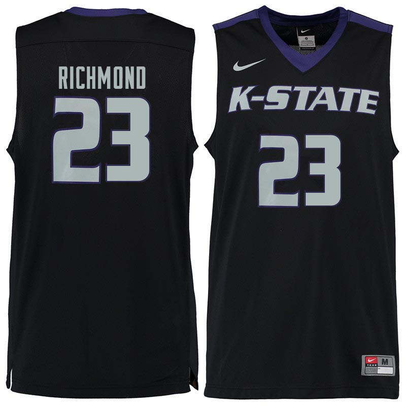 Men #23 Mitch Richmond Kansas State Wildcats College Basketball Jerseys Sale-Black