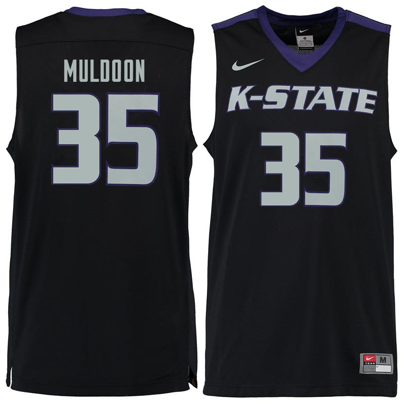 Men #35 Patrick Muldoon Kansas State Wildcats College Basketball Jerseys Sale-Black - Click Image to Close
