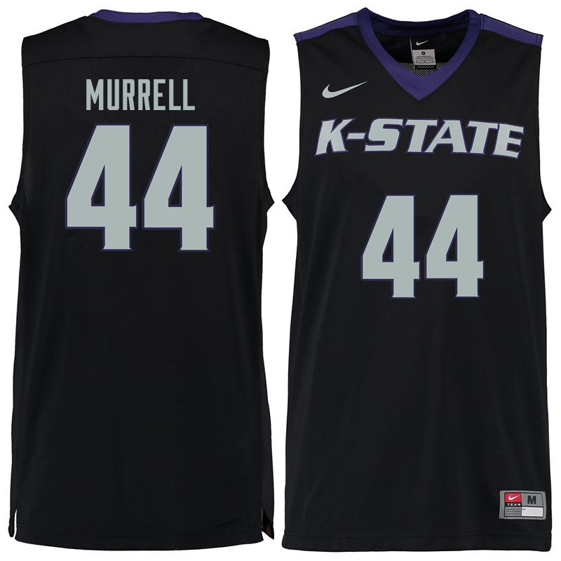 Men #44 Willie Murrell Kansas State Wildcats College Basketball Jerseys Sale-Black