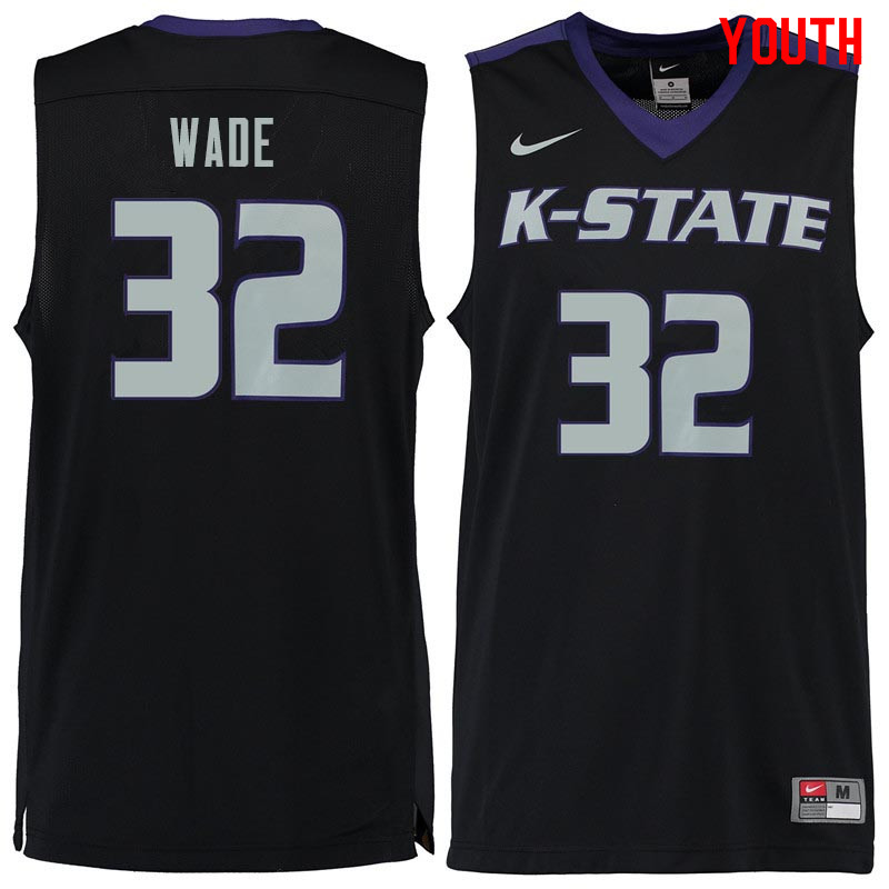 Youth #32 Dean Wade Kansas State Wildcats College Basketball Jerseys Sale-Black