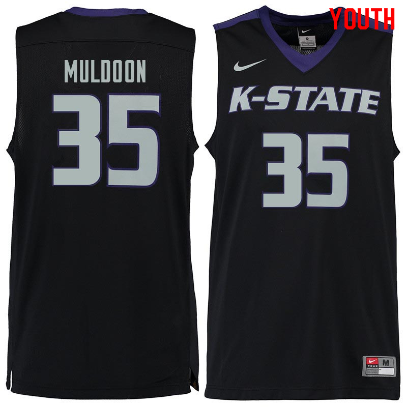 Youth #35 Patrick Muldoon Kansas State Wildcats College Basketball Jerseys Sale-Black