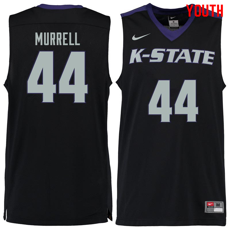 Youth #44 Willie Murrell Kansas State Wildcats College Basketball Jerseys Sale-Black