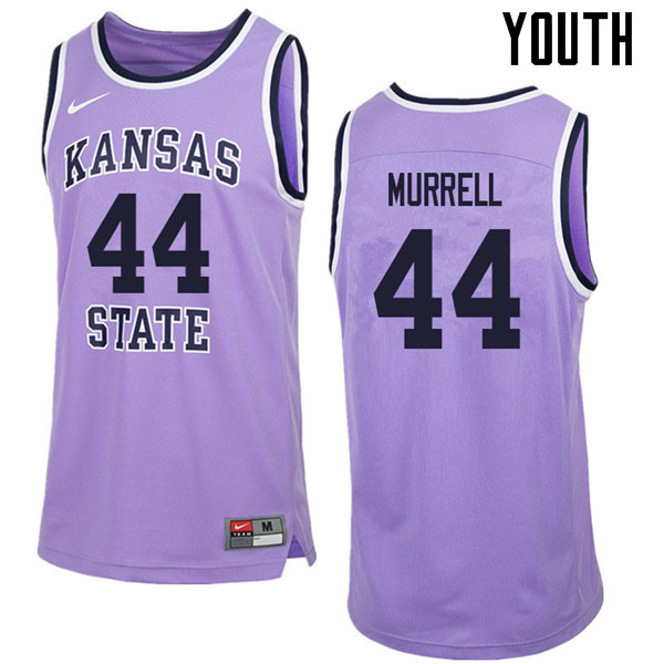 Youth #44 Willie Murrell Kansas State Wildcats College Retro Basketball Jerseys Sale-Purple